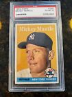 1958 Topps Baseball Mickey Mantle Card # 150 PSA 6 Ex-Mint Condition