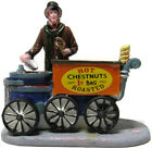 Lemax Christmas Village Hot Roasted Chestnuts Vendor Cart Victorian Man
