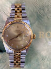 ROLEX DATEJUST 36 mm WITH CHAMPAGNE DIAMOND DIAL FLUTED BEZEL 16013