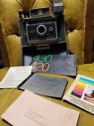Vtg Polaroid 430 Automatic Instant Camera Outfit Faux Gator Case Flash Manual