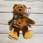TY GRAMPS the BEAR BEANIE BABY - New with TAGS TY EXCLUSIVE