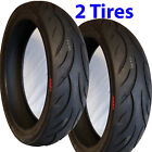 2 120 70 17 Motorcycle Moped Scooter TIREs CST CM620 Street Tread 4ply TubeLess