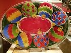 Peggy KARR Holiday Ornament 17 Oval Fused Glass Platter