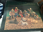 10 Piece Hand Painted Porcelain large Nativity Set In Box 10 inch
