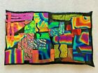 DICHROIC FUSED GLASS SCULPTURE MOSAIC CROSS HATCH  BY ARTIST CARTER 2
