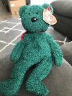 TY BEANIE-2001 HOLIDAY TEDDY-NEW WITH HANG TAG AND TUSH TAG!! EXCELLENT!!
