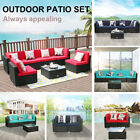 Outdoor Rattan Wicker Sofa Chair Set Tea Table Sectional Patio Couch