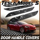 For 2015 20 Tesla Model S Forged Carbon Fiber Door Handle Cover REAL Twill Trim