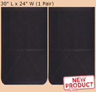 2 Rubber Truck Mud Flaps 24 in Wide x 30 in Long x 1 4 Thick Trailer Black NEW