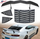 Rear and Side Window Louvers  Trunk Wings Spoiler for Chevy Camaro 2010 2015