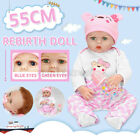 22 Reborn Dolls Girl Baby Realistic Newborn Birth Gift Toddler Handmade Toy US