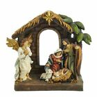Holy Family Nativity Scene with Angel Christmas Table Piece Figurine 9 In N0295