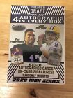 2020 Sage Hit Premier Draft High Series Football Blaster Box 4 Autos Burrow? Tua