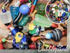Vintage Chunky Colorful Art Glass Bead 50 Long Necklace Estate Jewelry Buy out