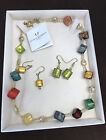 Antica Murrina Venezia Glass Necklace with two pairs of Earrings 925