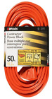 Woods 0819 12 3 Outdoor Multi Outlet Extension Cord 50 Foot Orange