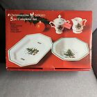 Nikko Christmastime 5 Piece Completer Set Sugar Creamer Serving Platter  Bowl