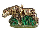 Leopard Polish Mouth Blown Glass Christmas Ornament Wild Cat Tree Decoration