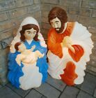 Christmas Baby Jesus With Mary Joseph Nativity Scene Lit Blow Mold Figures 1999