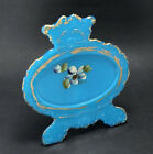 Antique Dithridge Turquoise Blue Milk Glass Picture Frame EAPG