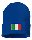 CUSTOM Embroidered Italian Flag Beanie Hat shirt Stallion Italy Amore