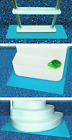 Ladder Mat Pool Above Ground Swimming Step Pad Liner Protection Blue 36x36