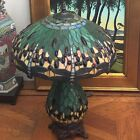 Lovely Reproduction Tiffany Stained Glass Arts & Crafts Dragonfly Lamp