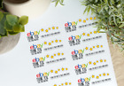 ebay Thank you stickers  1x2 5 8  100 count thank you labels