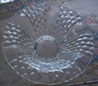 Beautiful fancy pressed clear glass pedestal bowl