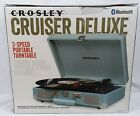 Crosley Cruiser Deluxe Stereo Turntable Tourmaline Sky Blue CR8005D TN NEW