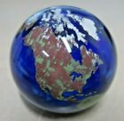 Lundberg Studios Vintage 1993 Glass Globe Paperweight Signed Excellent Condition