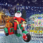 Extra Large Christmas Inflatable Santa Claus Ride a Motor with Reindeer Blow Up