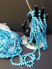 Cats Eye Beads on 15 Strands Blue Turquoise 6mm 50 beads 350 each 48 tot