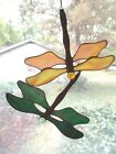 Handmade Stained Glass DRAGONFLY SuncatcherDF094