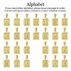 26Pcs Gold Plated Initial A Z Pendants Square 26 Letters Charm Set Personalised