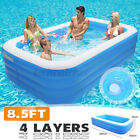 US Children Adult Inflatable Pools Kids Swimming Family Pool Home Outdoor Indoor