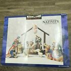 Kirkland Signature 75177 12 Piece Porcelain Nativity With Wood Crche NEW