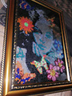 Picture Embroidered With Beads Handmade Pre Owned