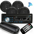 Pyle Marine Bluetooth Receiver Stereo System w 2 Pair 65 Inch Speakers Black