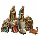 Elegant Traditional Christmas Nativity Set Figurines with Camel 7 Piece Indoor