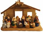 Miniature Kids Christmas Nativity Scene with Creche Set of 12 Rearrangeable Fig