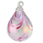 Glass Eye Studio Pink Taffy Raindrop Ornament