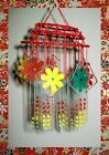Vintage Japanese Chinese Glass Wind Chimes old hand painted glass