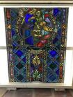 ANTIQUE GERMAN STAINED GLASS CHURCH WINDOW FROM A CLOSED CHURCH X7