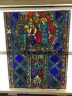 ANTIQUE GERMAN STAINED GLASS CHURCH WINDOW FROM A CLOSED CHURCH V7