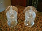 2 Vintage LE Smith Clear Glass Turkey Candy Nut Dishes