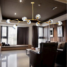 Simple And Modern Light Glass Branch Ceiling Lamp LED Chandelier Decorative Lamp