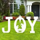 Christmas Joy Nativity Scene Yard Sign Decorations Xmas Outdoor Lawn Decor As