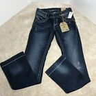 Hydraulic Lola Curvy Slim Boots Women Blue Denim Embroidered Jeans Size 7 8 R