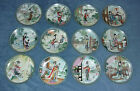 12 IMPERIAL JINGDEZHEN BEAUTIES OF THE RED MANSION PORCELAIN COLLECTORS PLATES